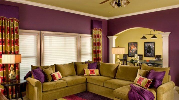 Επιλέγοντας το χρώμα των τοίχων στο σαλόνι: όμορφους συνδυασμούς
