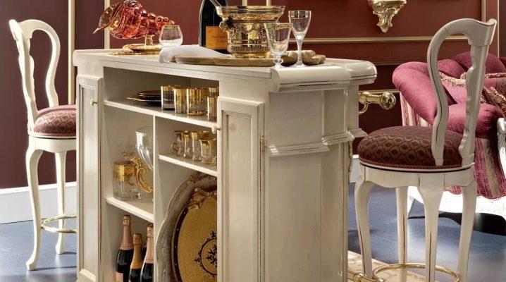 Scegliere un armadietto per il bar del soggiorno