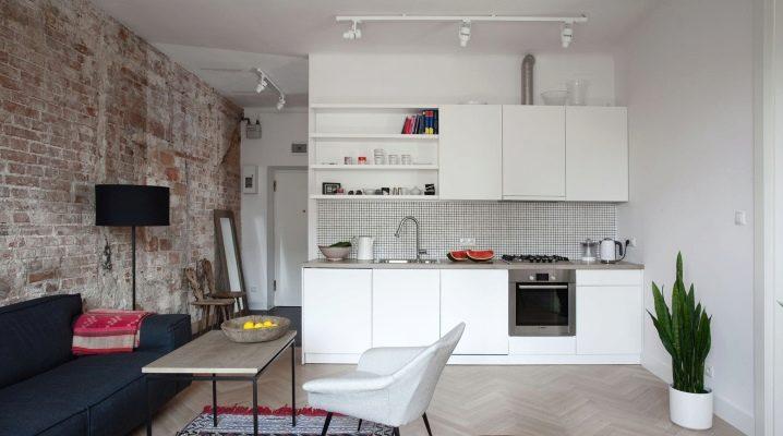 As sutilezas do design da cozinha-sala de estar no estilo do minimalismo
