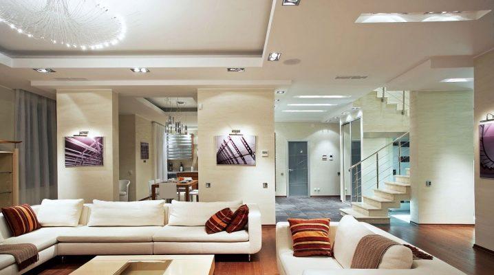 Οι λεπτότητα του σχεδιασμού σαλόνι σε ένα μοντέρνο στυλ
