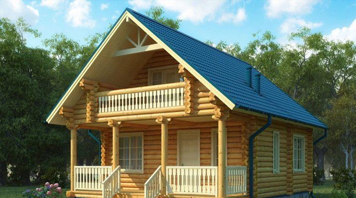 Projek Rumah Kayu Dengan Loteng 33 Foto Ciri Ciri Pembinaan Kayu Kotej Dari Balak Dengan Tingkap Bay Rumah Kampung Dengan Lantai Loteng