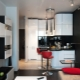 Design kitchen-living room area of ​​12 square meters. m