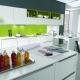 Dapur dengan rak terbuka