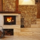 Modern fireplaces in the living room interior