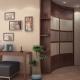 Corner wardrobe in the hall