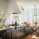 Schmale Küche-Wohnzimmer