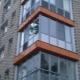 Aluminum balcony glazing
