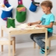 Children's chair and table with their own hands