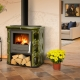 Fireplace stove with hob