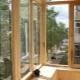 Verglasung eines Balkons mit einem Baum