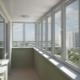 Glazing and finishing of balconies