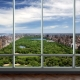 Panoramic balcony glazing