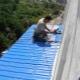 Balcony roof repair