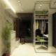Narrow wardrobe in the hall
