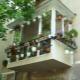 Äußeres Ende des Balkons