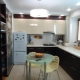 Kitchen design area of ​​7 square meters. m. with fridge