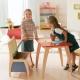 Características de la elección de la mesa de plástico para niños.