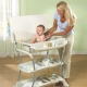 Swaddling tables with bath