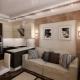 Diseño de sala de estar de 15 metros cuadrados. m