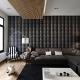 Design delle pareti del salotto: idee di design moderne