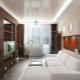 Interjera dzīvojamā istaba Hruščovā: stilīgs telpas dizains