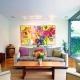 Pinturas en el interior de la sala de estar: las sutilezas de la decoración de la pared