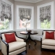Short curtains in the living room interior: features of choice