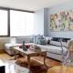 Nelielas dzīvojamās istabas interjera dizaina iespējas mūsdienīgā stilā