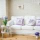 Provansas stila dzīvojamā istaba: maigums interjerā