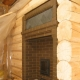 The brick furnace for a bath with a fire chamber from a dressing room