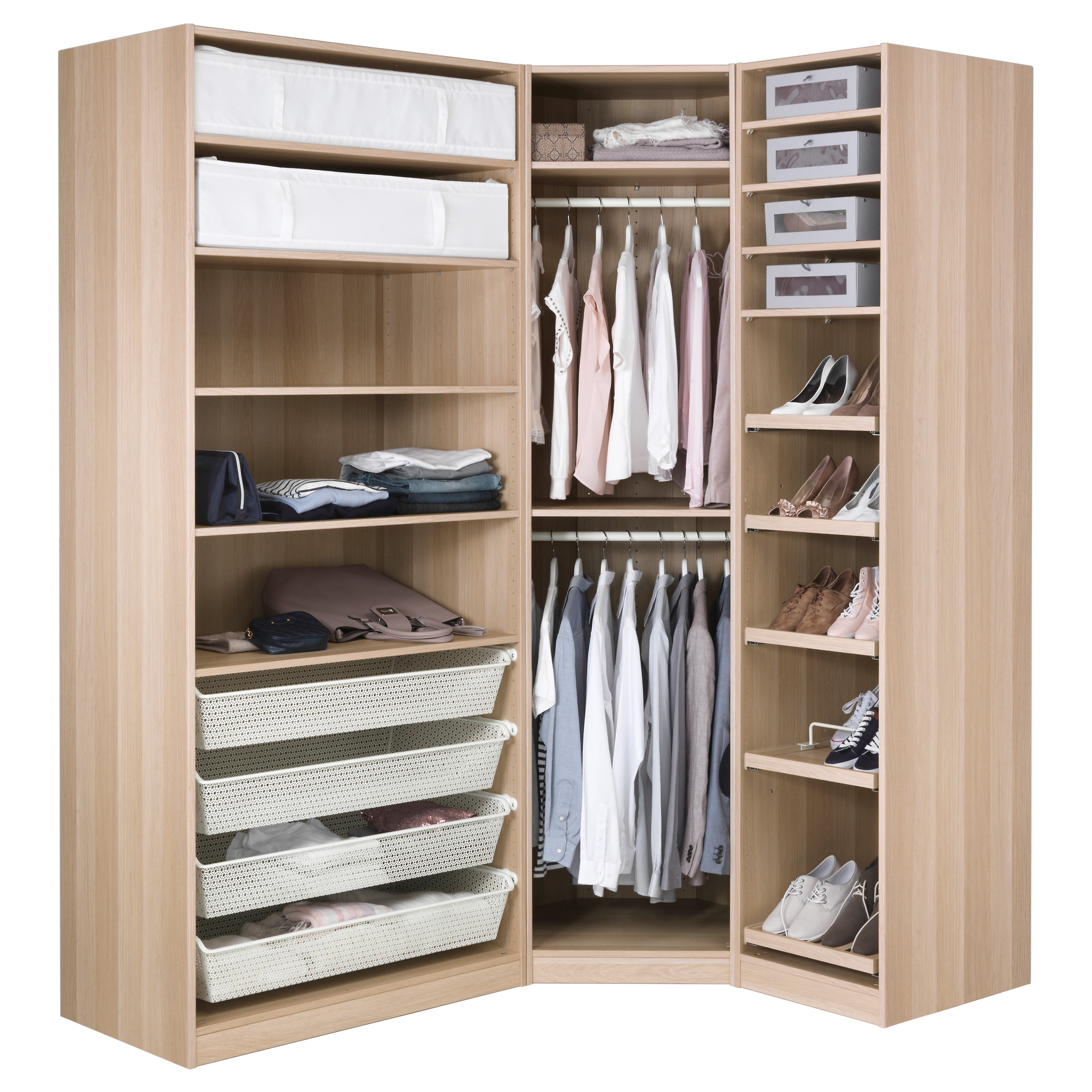 Armoire D Angle Dressing wardrobe pax (35 photos): reviews, ikea corner planner in
