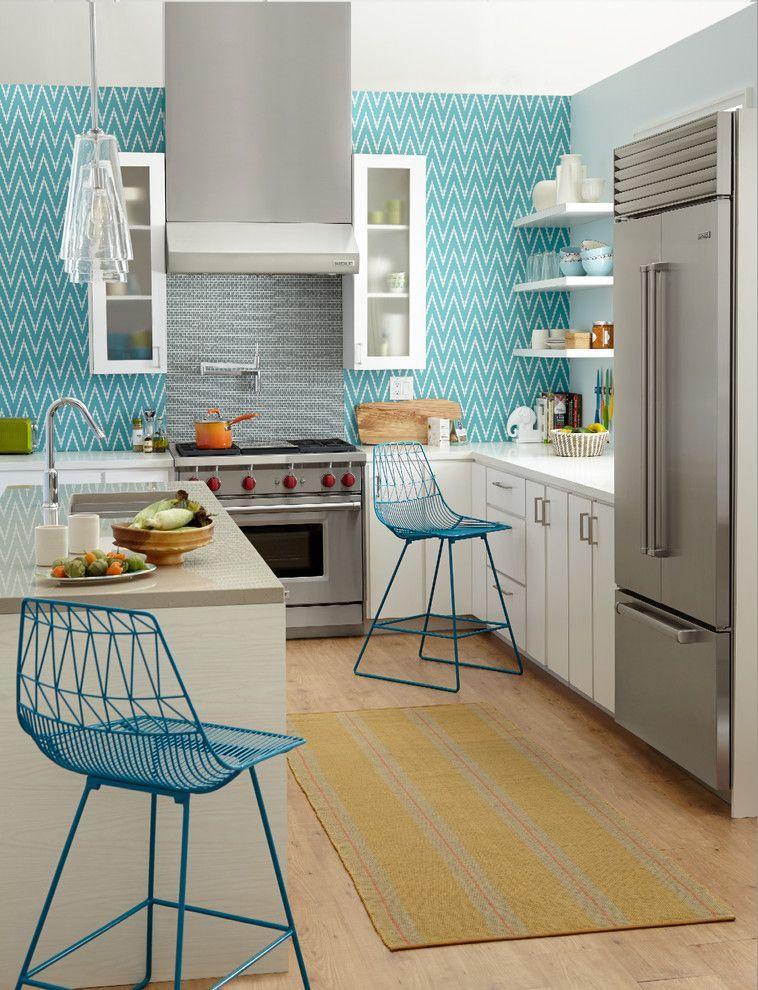 Abwaschbare Tapete für die Küche (67 Fotos): Wie und was zu ...