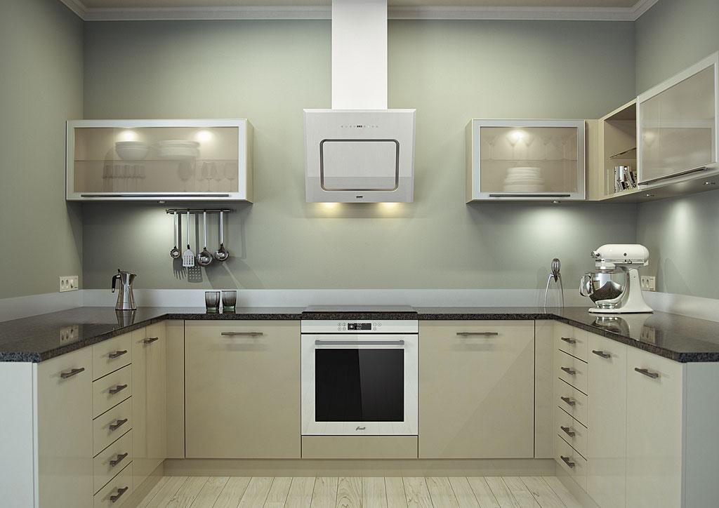 تركيب الفرن في المطبخ 27 صورة مطبخ داخلي مع خزائن مدمجة