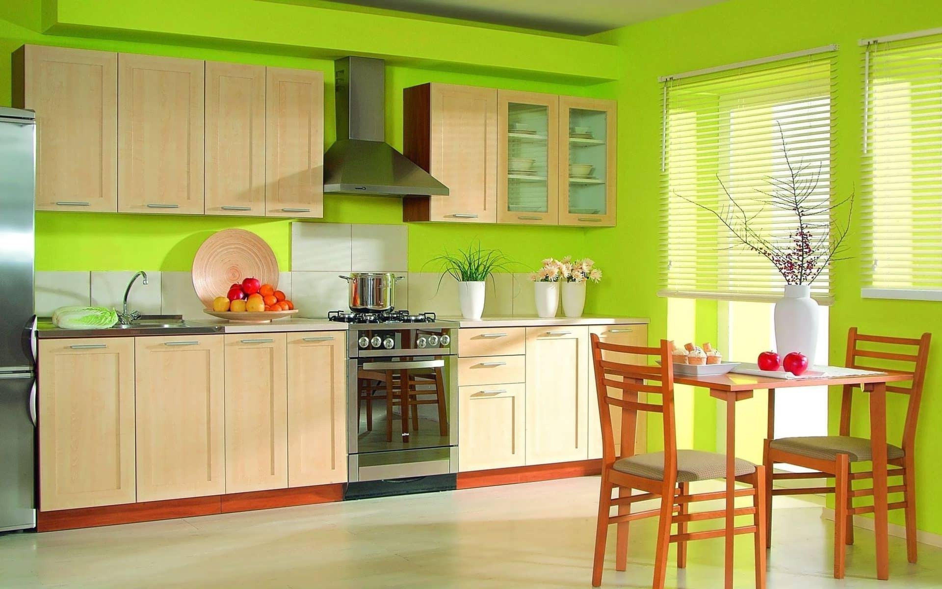 Kertas Dinding Hijau Di Dapur 41 Gambar Reka Bentuk Warna Hijau Dan Putih Untuk Dinding Dan Langsir Ke Set Dapur