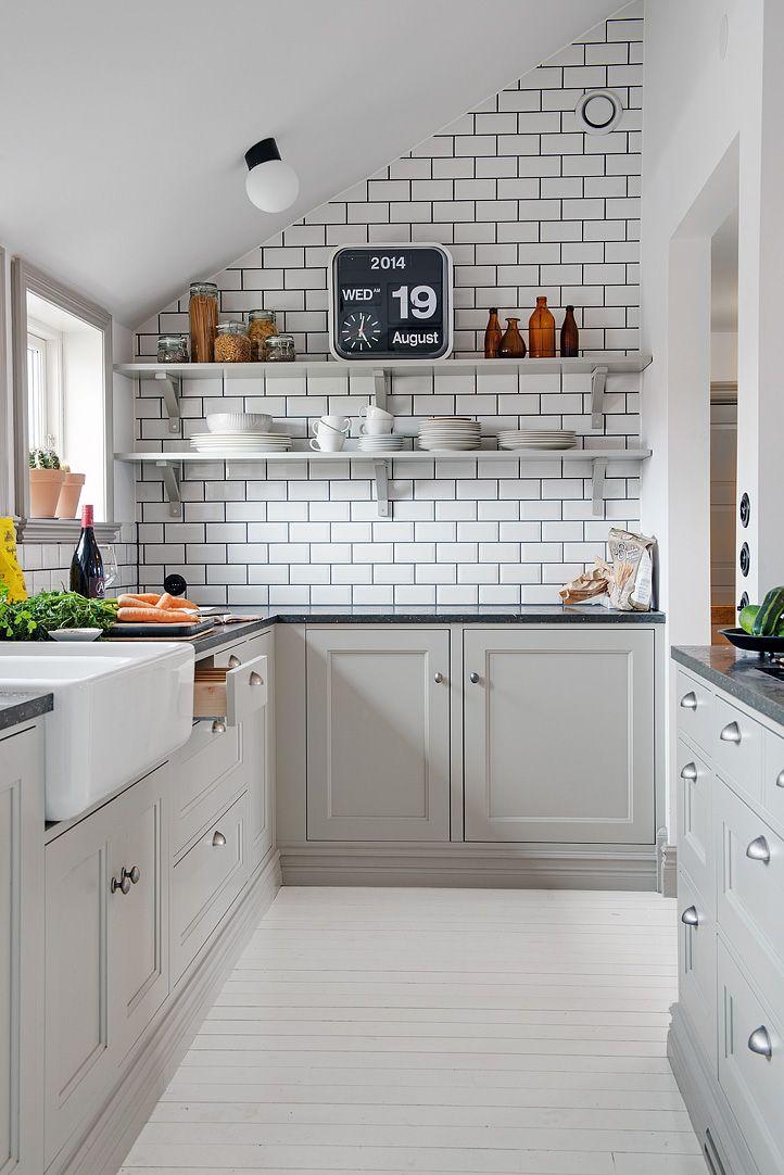 البلاط الأبيض في المطبخ 43 صور البلاط المستطيل الأسود والأبيض والبيج