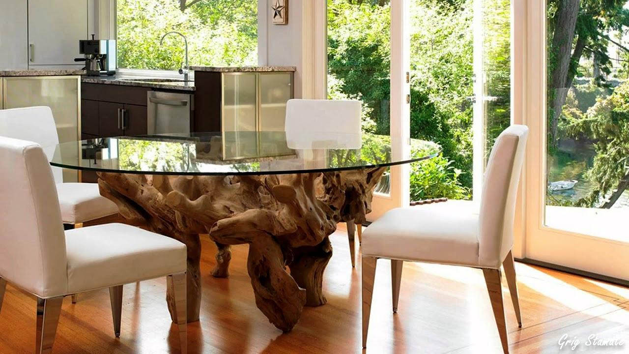 Tavolo da cucina rotondo in vetro (59 foto): un tavolo ...