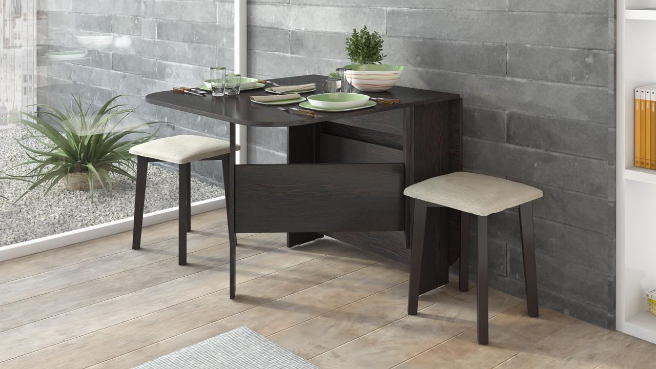 Pequeñas mesas plegables para la cocina (65 fotos): mesa ...