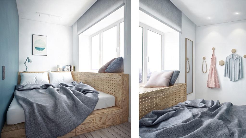 Progettazione di una piccola camera da letto di 6 metri ...