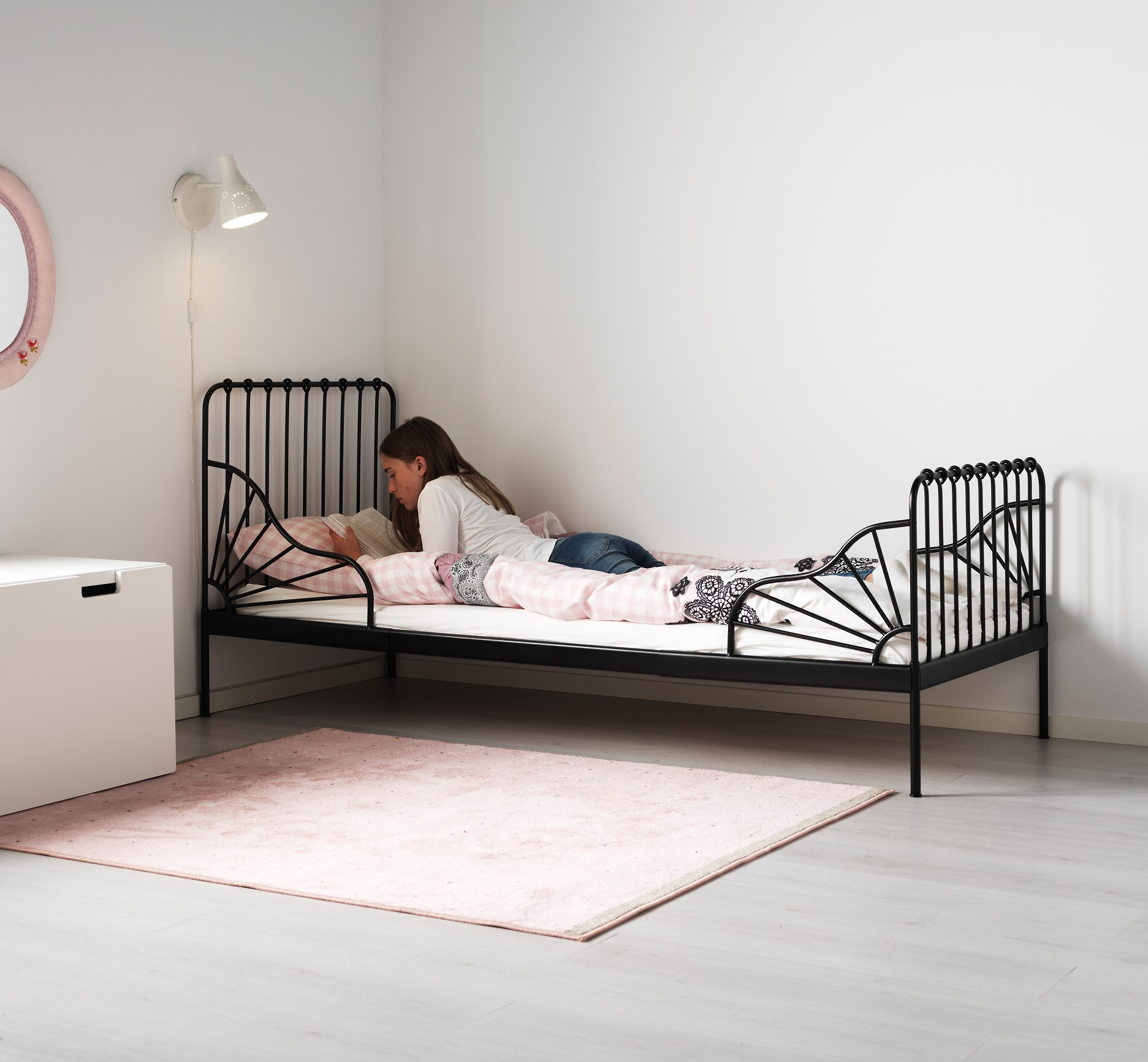 Ikea Katil Tunggal 26 Gambar Katil Kayu Dengan Tilam Produk Palsu Besi Dimensi 90x200