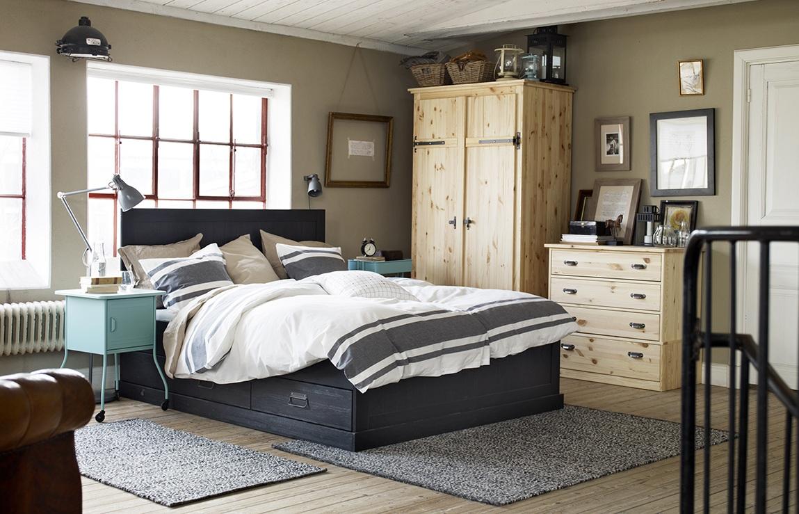 غرف نوم ايكيا 64 صورة تصميم داخلي على طراز ايكيا منسوجات لغرفة النوم مخطط ومصمم