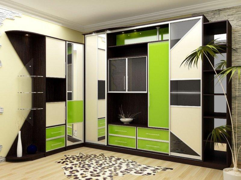Armadi ad angolo nel soggiorno (37 foto): idee di design ...