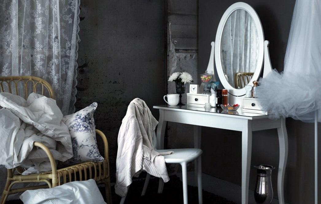 الجداول خلع الملابس ايكيا 38 صور طاولة بيضاء لغرفة النوم