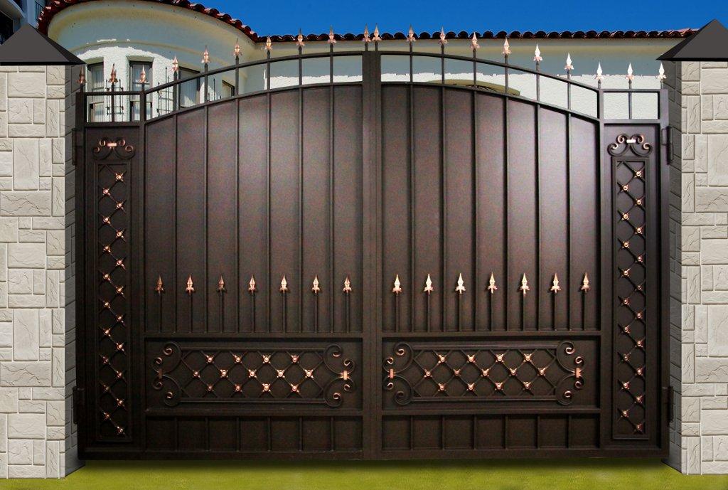 Puertas Metálicas 55 Fotos Estructuras De Hierro Con Una