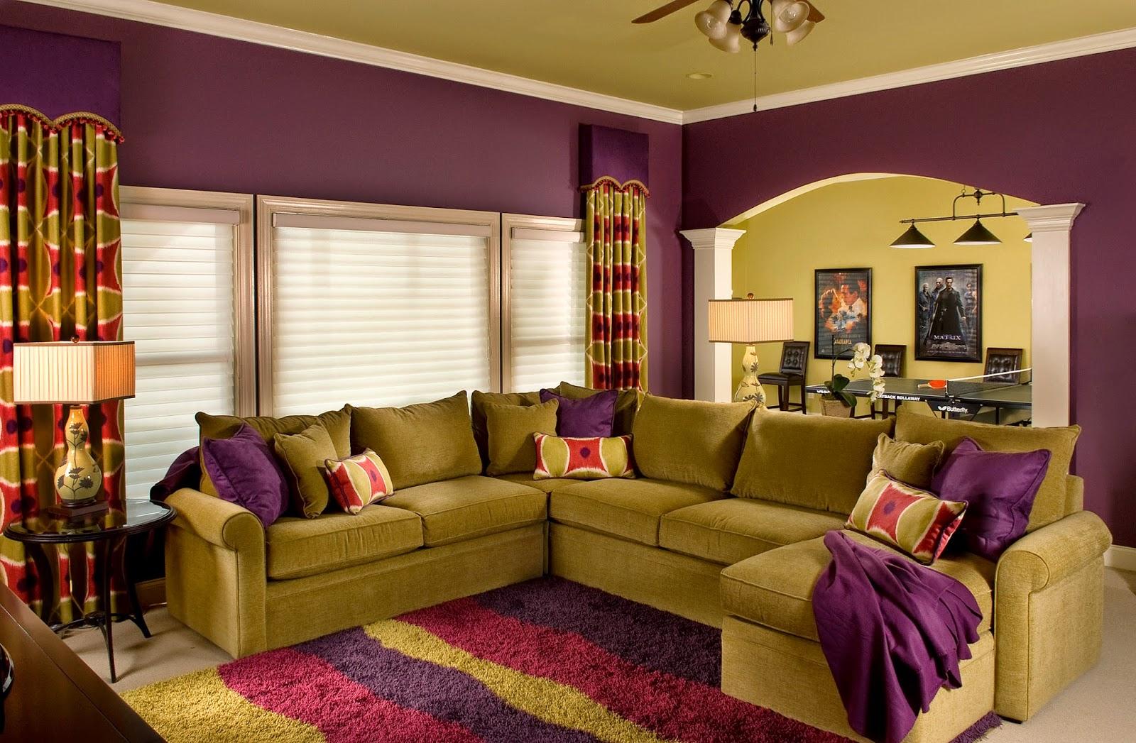 Hiasan Dalaman Ruang Tamu Warna Ungu Desainrumahid com