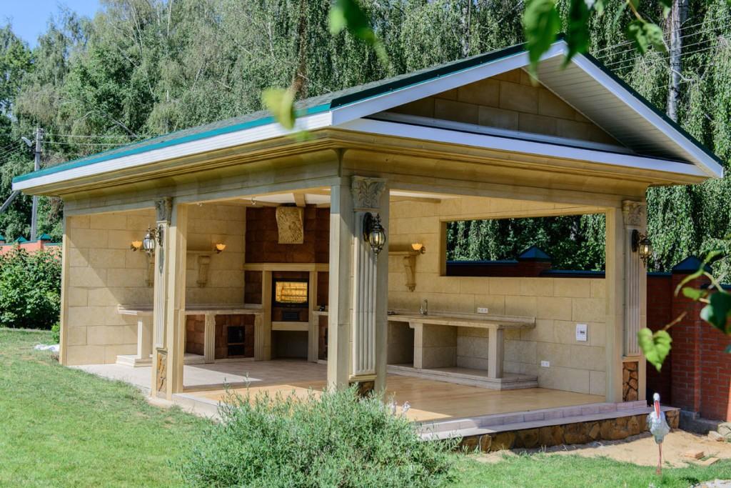 Gambar Kanopi Rumah Kayu glazed gazebos dengan barbeku barbeku dan kompor 28 foto