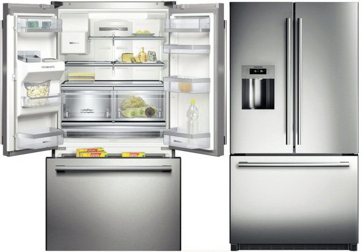 Siemens refrigerator: built-in models with a black glass